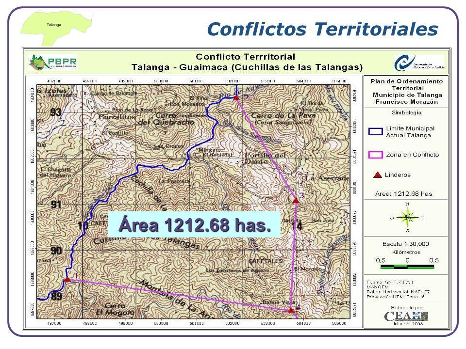 Company Logo Conflictos Territoriales Área 1212.68 has.
