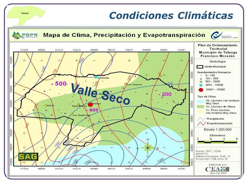 Condiciones Climáticas Valle Seco