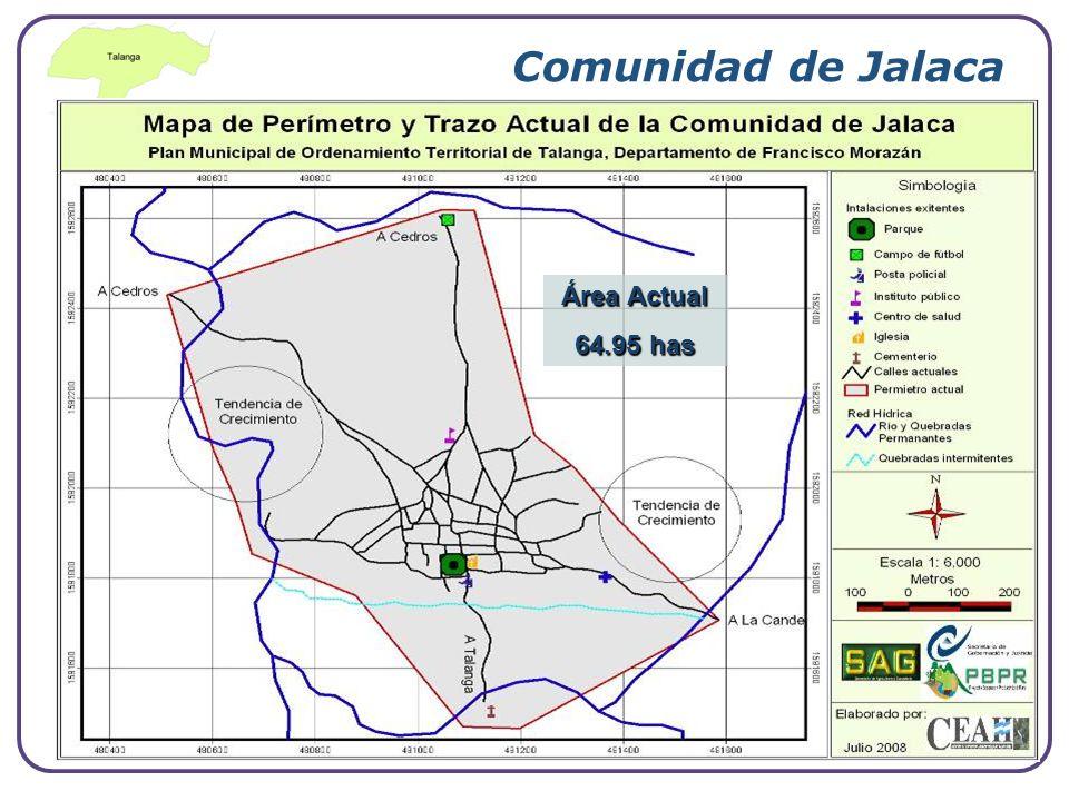 Company Logo www.themegallery.com Comunidad de Jalaca Área Actual 64.95 has