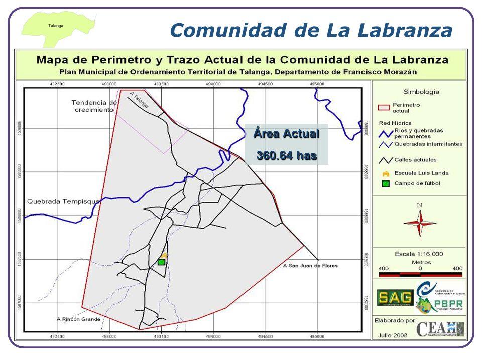 Company Logo www.themegallery.com Comunidad de La Labranza Área Actual 360.64 has