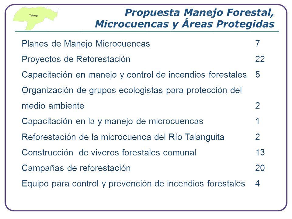 Company Logo www.themegallery.com Propuesta Manejo Forestal, Microcuencas y Áreas Protegidas Planes de Manejo Microcuencas 7 Proyectos de Reforestació