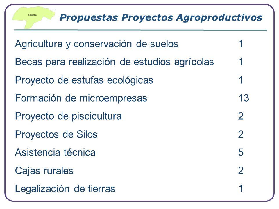 Company Logo www.themegallery.com Propuestas Proyectos Agroproductivos Agricultura y conservación de suelos 1 Becas para realización de estudios agríc