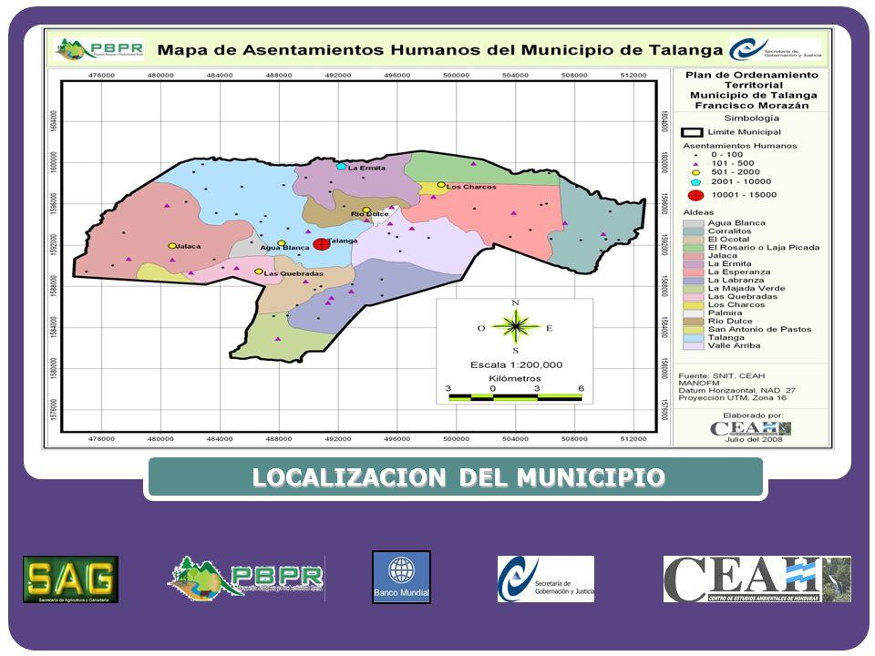 Hidrografía Al sur del municipio de Talanga se localiza el parteaguas continental.