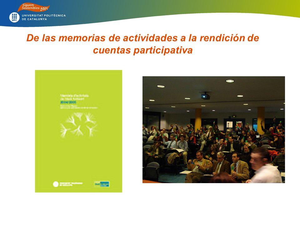 De las memorias de actividades a la rendición de cuentas participativa