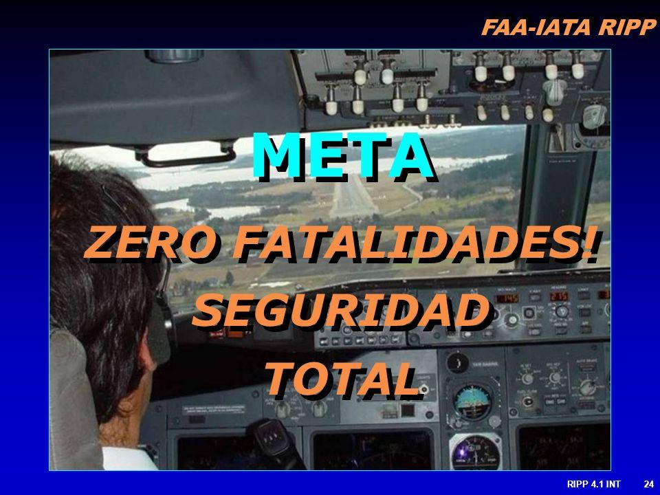 FAA-IATA RIPP RIPP 4.1 INT24 META ZERO FATALIDADES! SEGURIDAD TOTAL META ZERO FATALIDADES! SEGURIDAD TOTAL