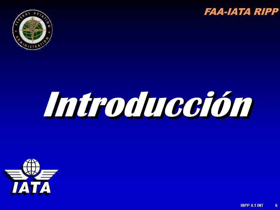FAA-IATA RIPP RIPP 4.1 INT6 Introducción