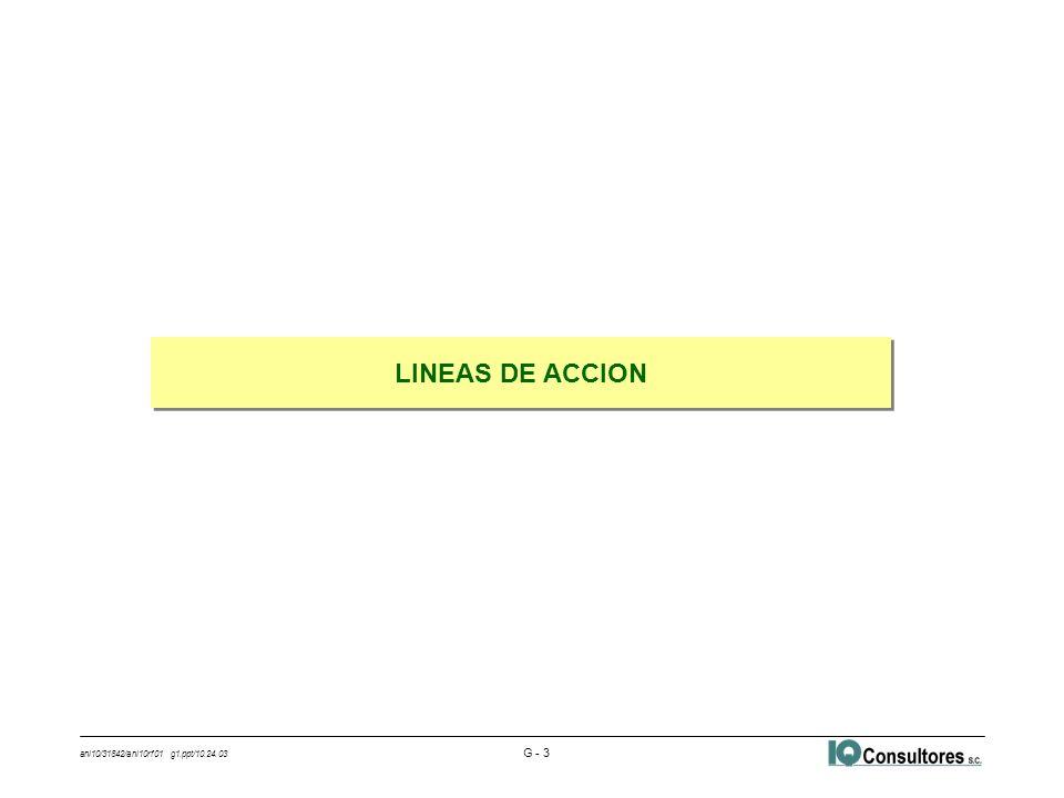ani10/31842/ani10rf01 g1.ppt/10.24.03 G - 3 LINEAS DE ACCION