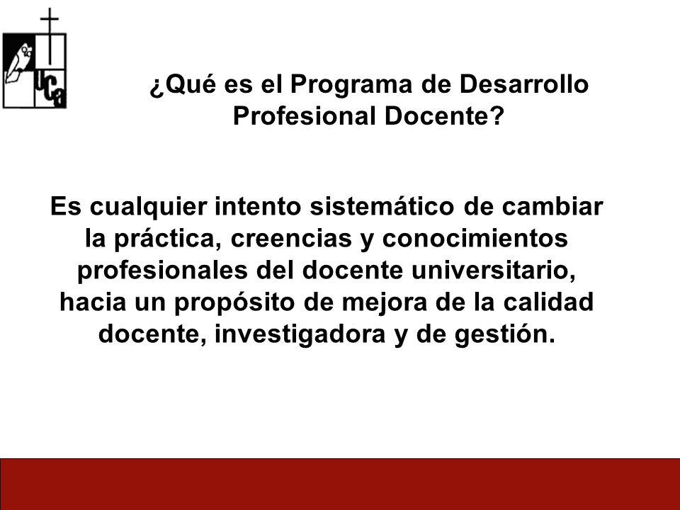¿Qué es el Programa de Desarrollo Profesional Docente.