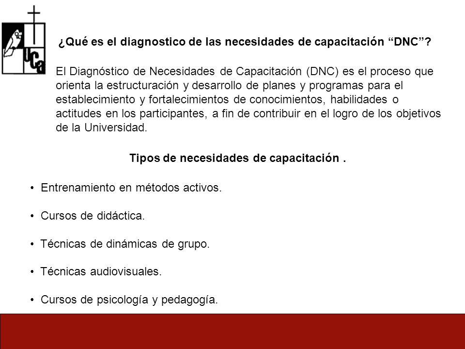 ¿Qué es el diagnostico de las necesidades de capacitación DNC.