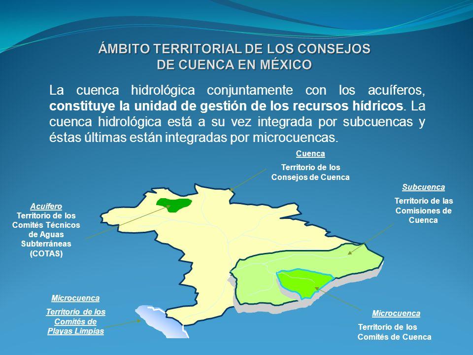 La cuenca hidrológica conjuntamente con los acuíferos, constituye la unidad de gestión de los recursos hídricos. La cuenca hidrológica está a su vez i
