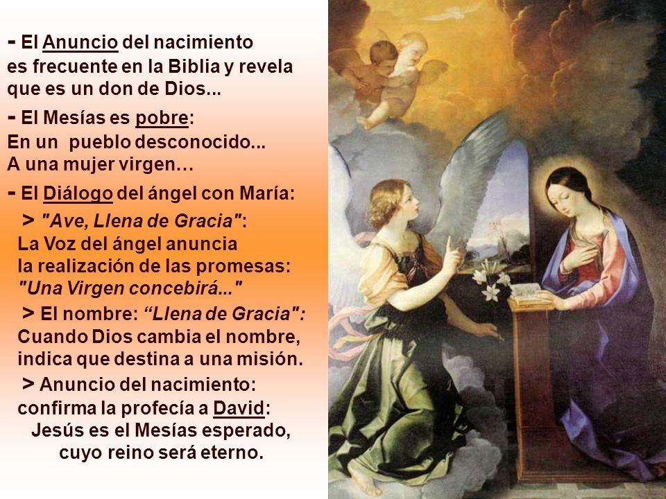 La 2ª Lectura es un Himno de alabanza a Dios por las maravillas que ha realizado en favor de los hombres. (Ef 1,3-6;11-12) En el Evangelio, el saludo