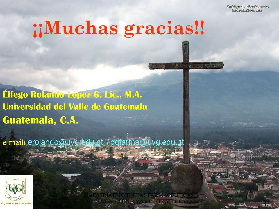 34 MAESTRIA EN CIENCIAS FARMACÉUTICAS (GESTIÓN Y LIDERAZGO ESTRATÉGICO) ¡¡Muchas gracias!.