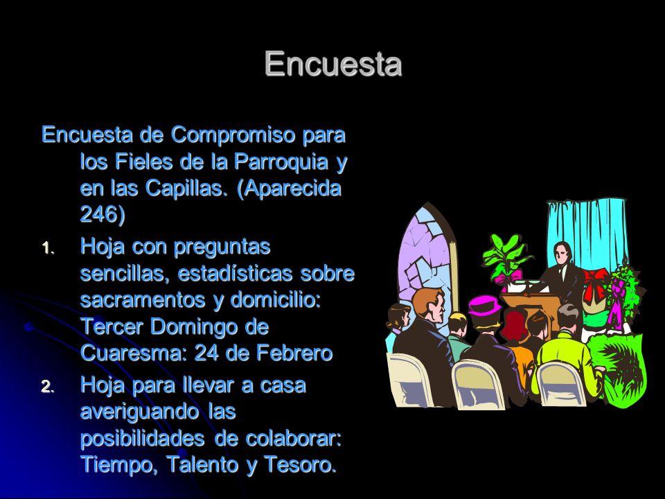 Encuesta Encuesta de Compromiso para los Fieles de la Parroquia y en las Capillas.