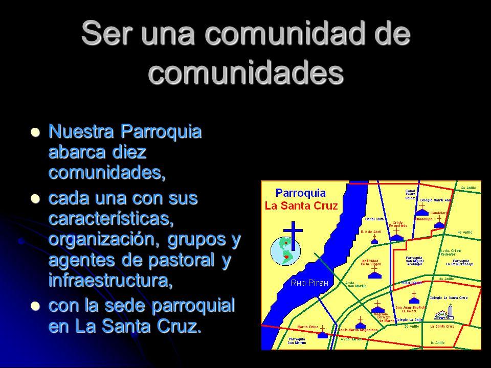 Ser una comunidad de comunidades Nuestra Parroquia abarca diez comunidades, Nuestra Parroquia abarca diez comunidades, cada una con sus característica