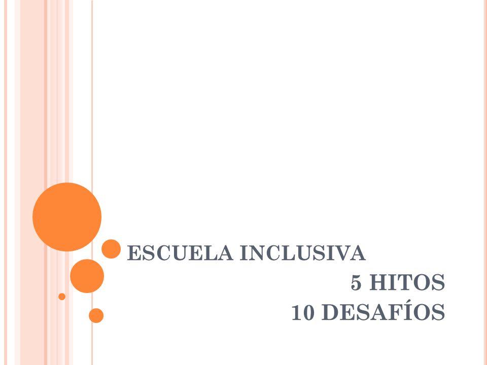 ESCUELA INCLUSIVA 5 HITOS 10 DESAFÍOS
