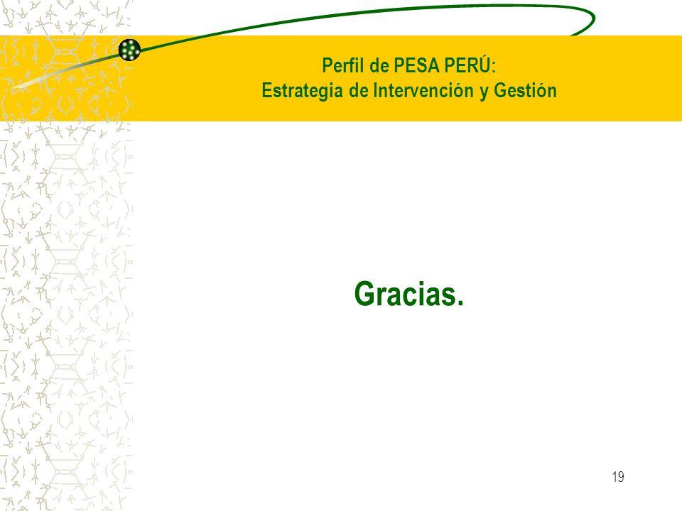 19 Perfil de PESA PERÚ: Estrategia de Intervención y Gestión Gracias.