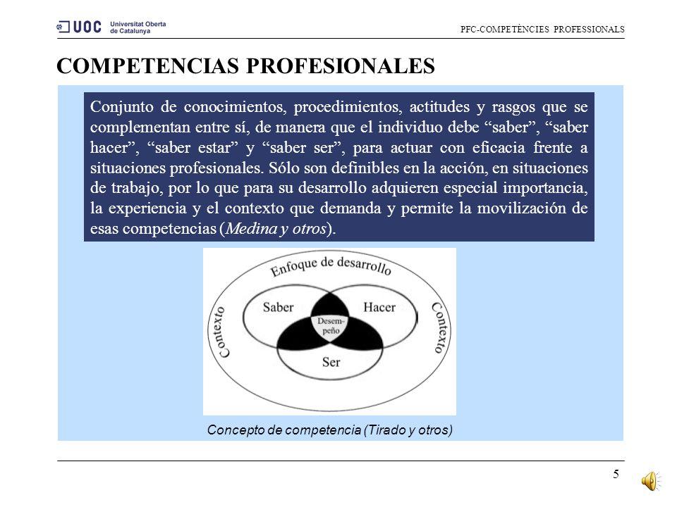 4 Definiremos las competencias como el conjunto de conocimientos, procedimientos y actitudes combinados, coordinados e integrados en la acción, adquir