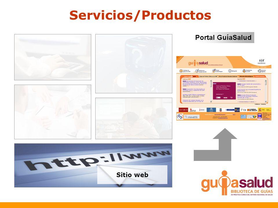 Servicios/Productos Sitio web Portal GuíaSalud