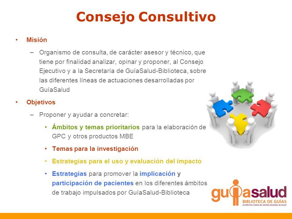 Consejo Consultivo Misión –Organismo de consulta, de carácter asesor y técnico, que tiene por finalidad analizar, opinar y proponer, al Consejo Ejecut