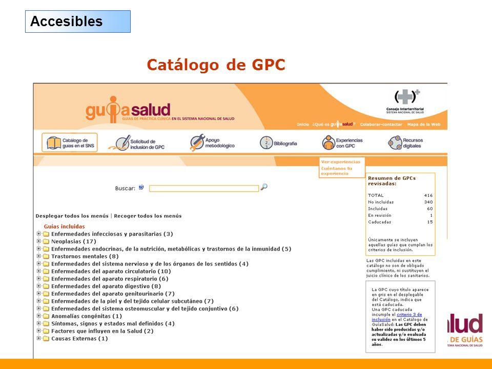 Catálogo de GPC Accesibles
