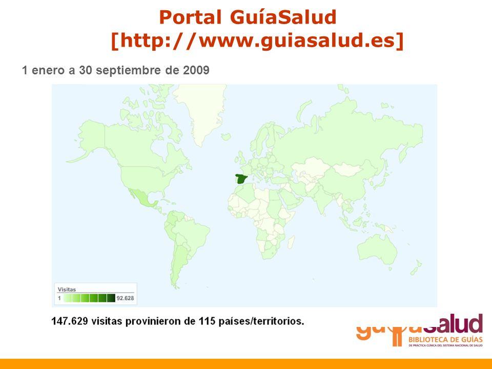 1 enero a 30 septiembre de 2009 Portal GuíaSalud [http://www.guiasalud.es]