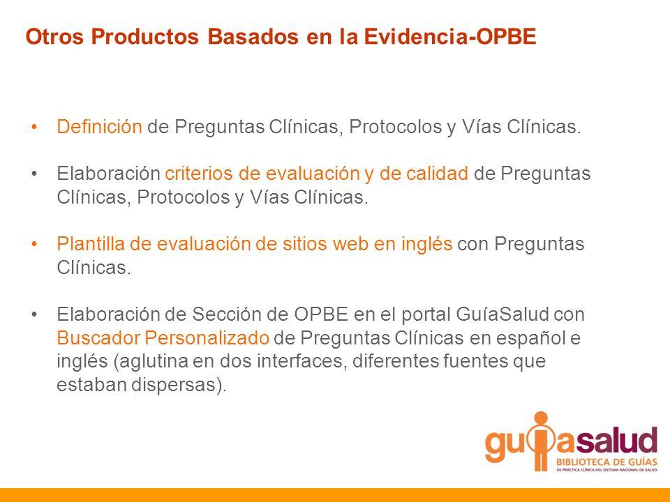 Definición de Preguntas Clínicas, Protocolos y Vías Clínicas. Elaboración criterios de evaluación y de calidad de Preguntas Clínicas, Protocolos y Vía