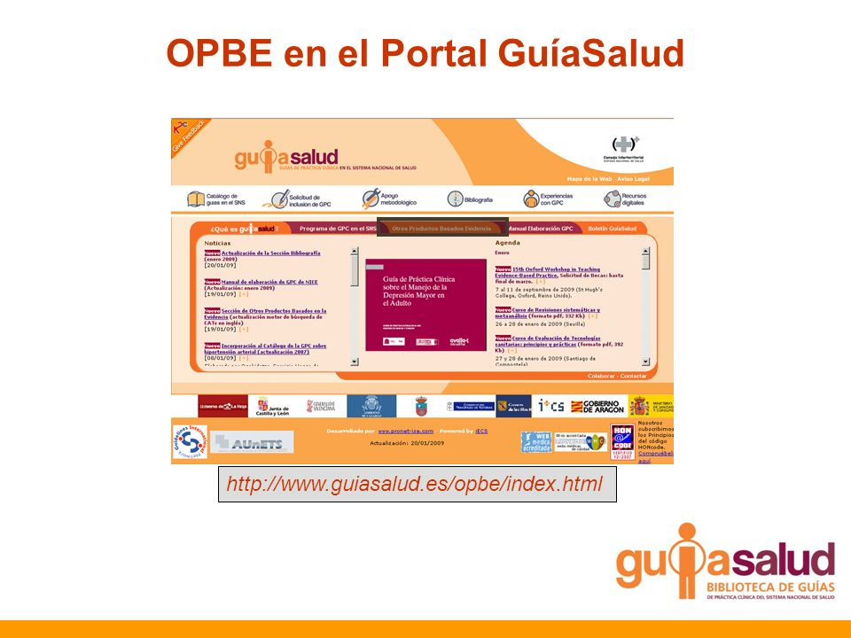 OPBE en el Portal GuíaSalud http://www.guiasalud.es/opbe/index.html