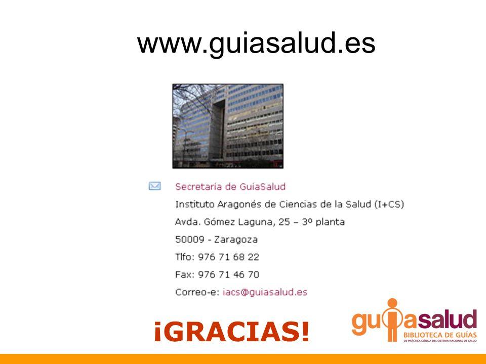 ¡GRACIAS! www.guiasalud.es
