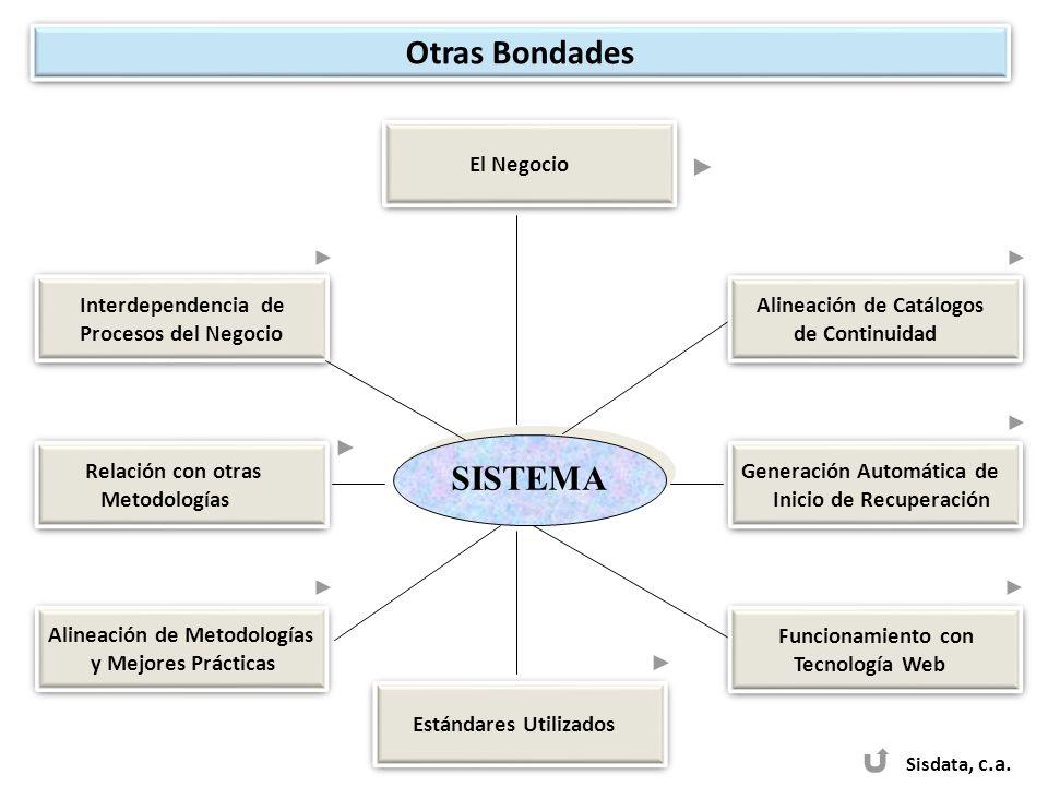 SISTEMA Sisdata, c.a. El Negocio Interdependencia de Procesos del Negocio Interdependencia de Procesos del Negocio Alineación de Catálogos de Continui