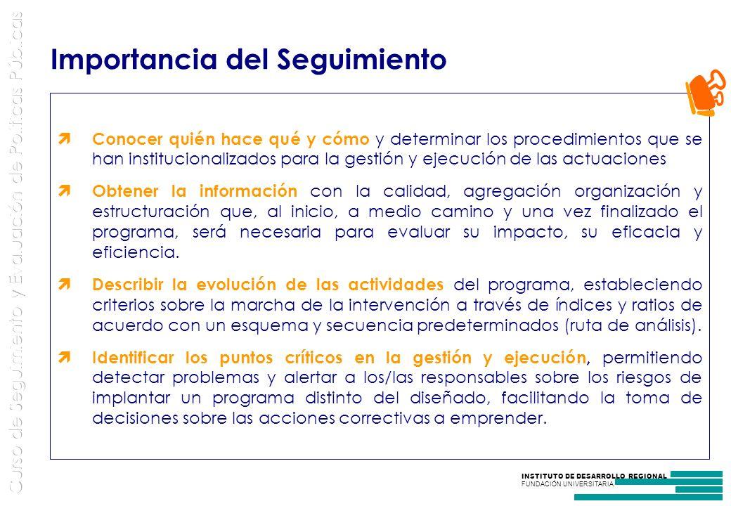 INSTITUTO DE DESARROLLO REGIONAL FUNDACIÓN UNIVERSITARIA Los Indicadores traducen los objetivos en metas cuantificables.