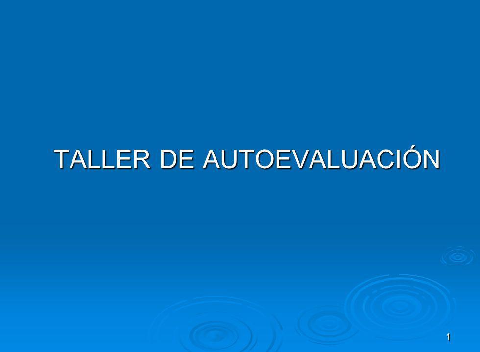1 TALLER DE AUTOEVALUACIÓN