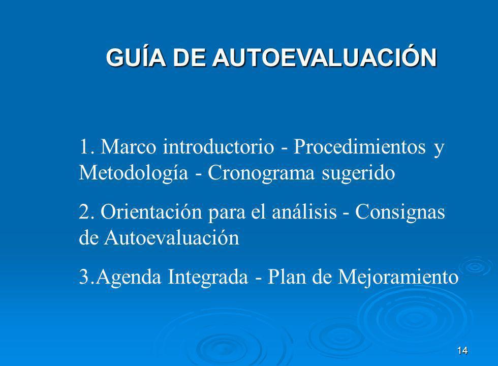 14 GUÍA DE AUTOEVALUACIÓN GUÍA DE AUTOEVALUACIÓN 1.