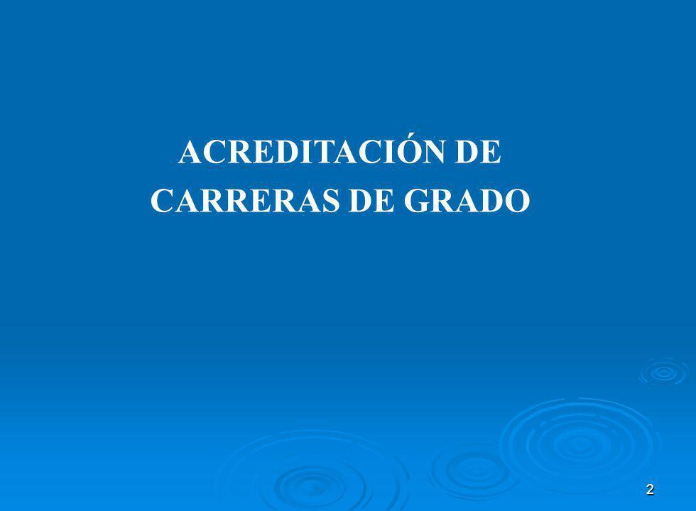 2 ACREDITACIÓN DE CARRERAS DE GRADO