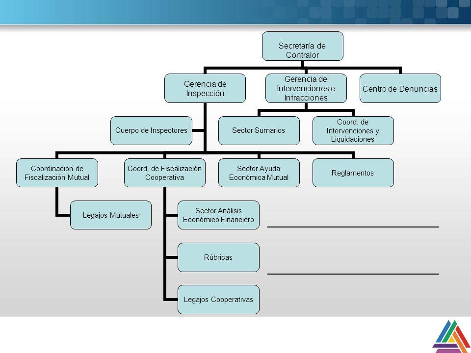 FACULTADES DECRETO 721/2000 Responsabilidad primaria: Asistir al Directorio del Instituto en la formulación y cumplimiento de los objetivos y acciones relativos a la fiscalización pública de las cooperativas y mutuales.