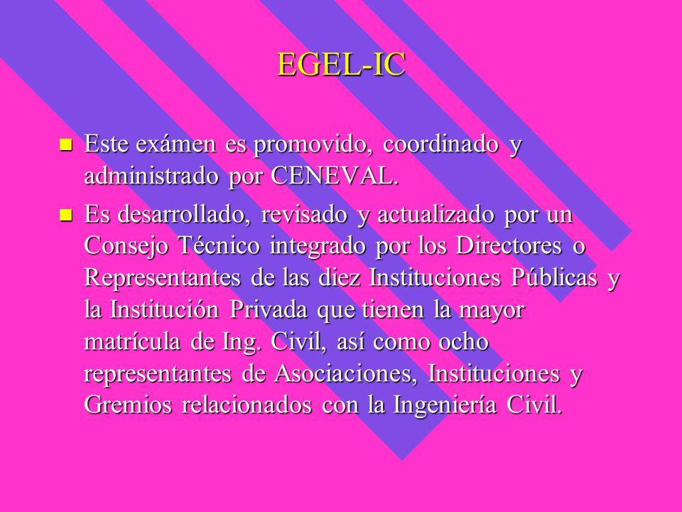 EGEL-IC Este exámen es promovido, coordinado y administrado por CENEVAL. Este exámen es promovido, coordinado y administrado por CENEVAL. Es desarroll