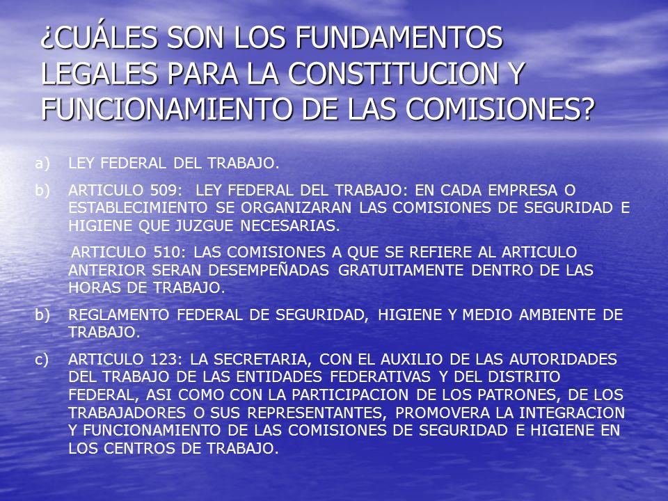 ¿CUÁLES SON LOS FUNDAMENTOS LEGALES PARA LA CONSTITUCION Y FUNCIONAMIENTO DE LAS COMISIONES.