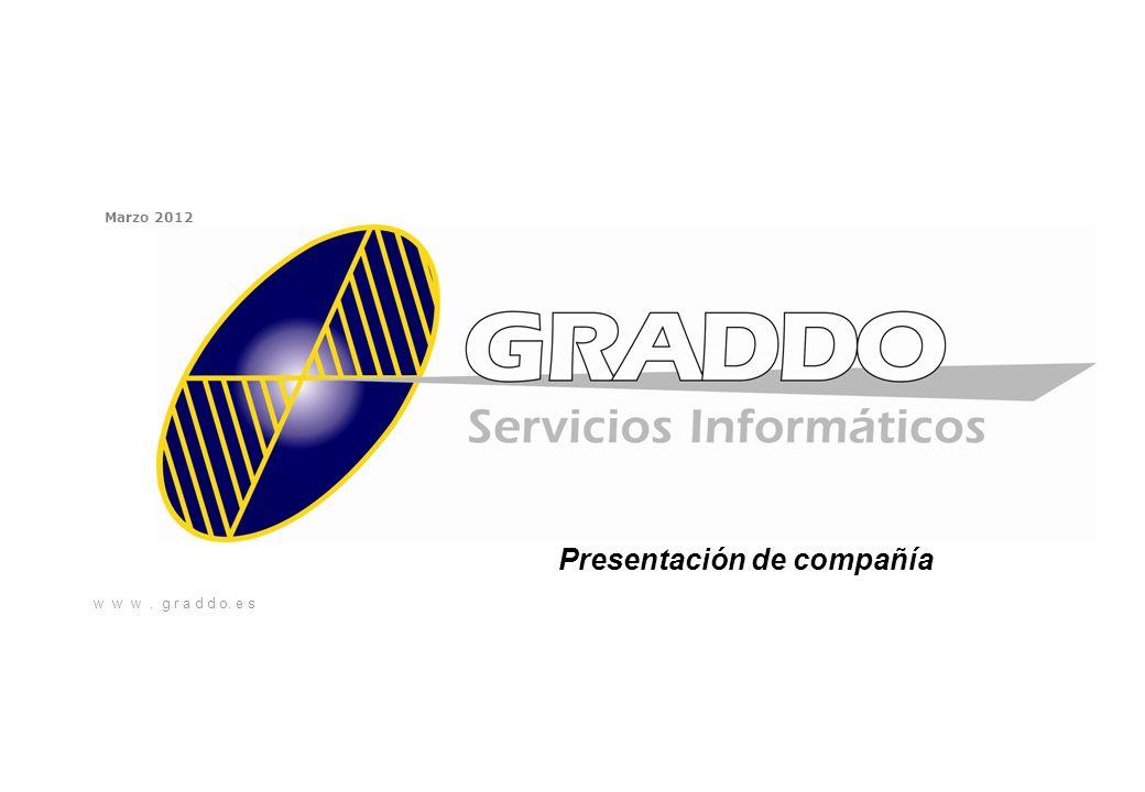 w w w. g r a d d o. e s Marzo 2012 Presentación de compañía