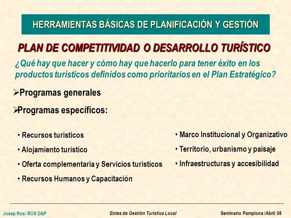 ¿Qué hay que hacer y cómo hay que hacerlo para tener éxito en los productos turísticos definidos como prioritarios en el Plan Estratégico.