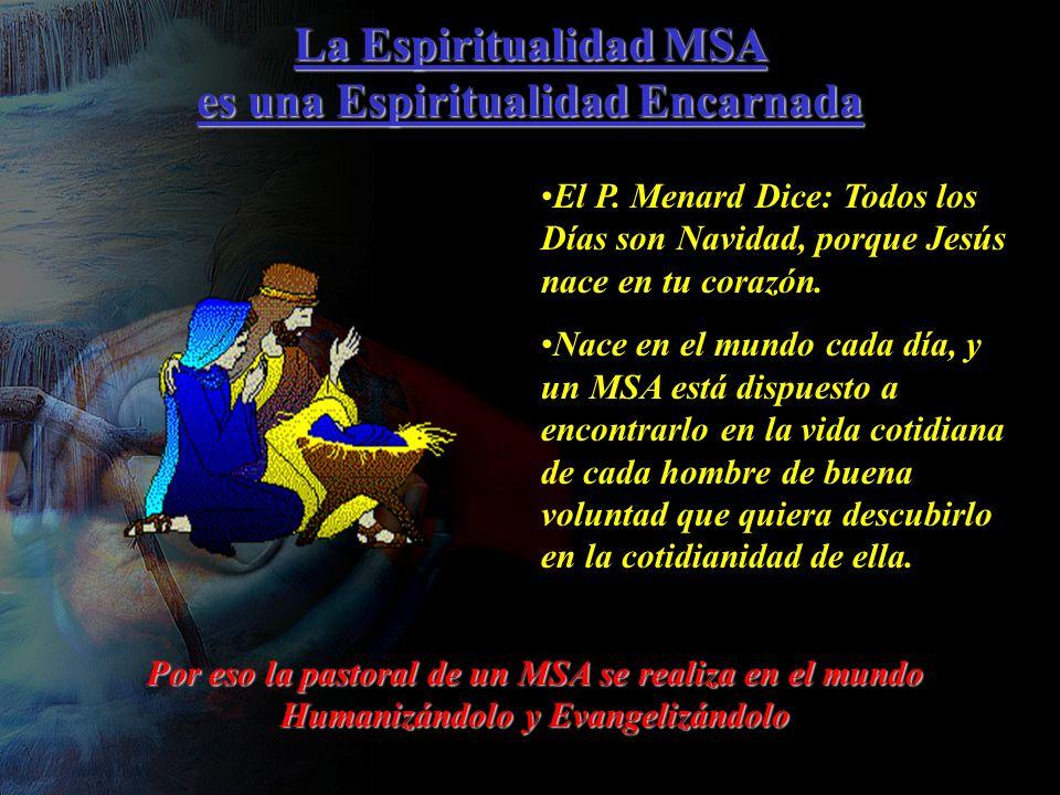 La Espiritualidad MSA es una Espiritualidad Encarnada El P.