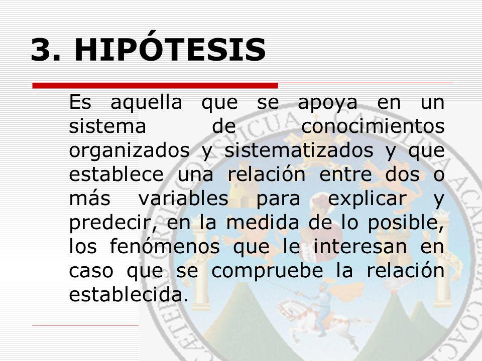 ALGUNAS OBSERVACIONES RESPECTO A LA FORMULACIÓN DE HIPÓTESIS Tipos de Hipótesis Fuentes de la Hipótesis a.Teoría b.Observación c.Información Empírica Disponible