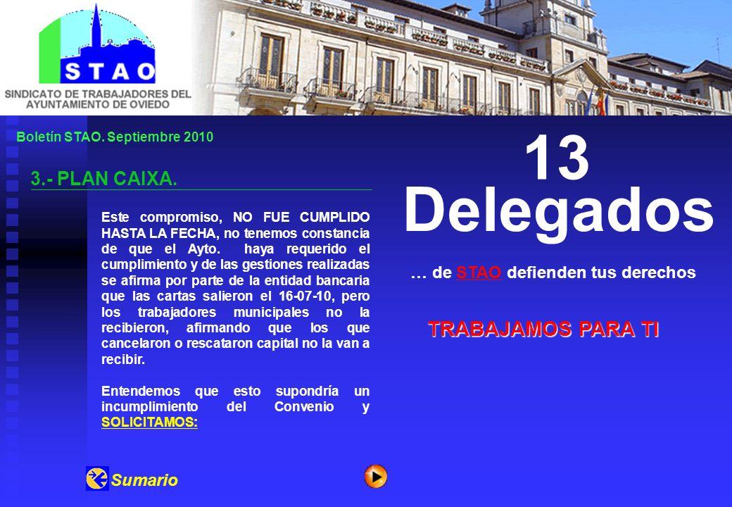 Boletín STAO. Septiembre 2010 3.- PLAN CAIXA.