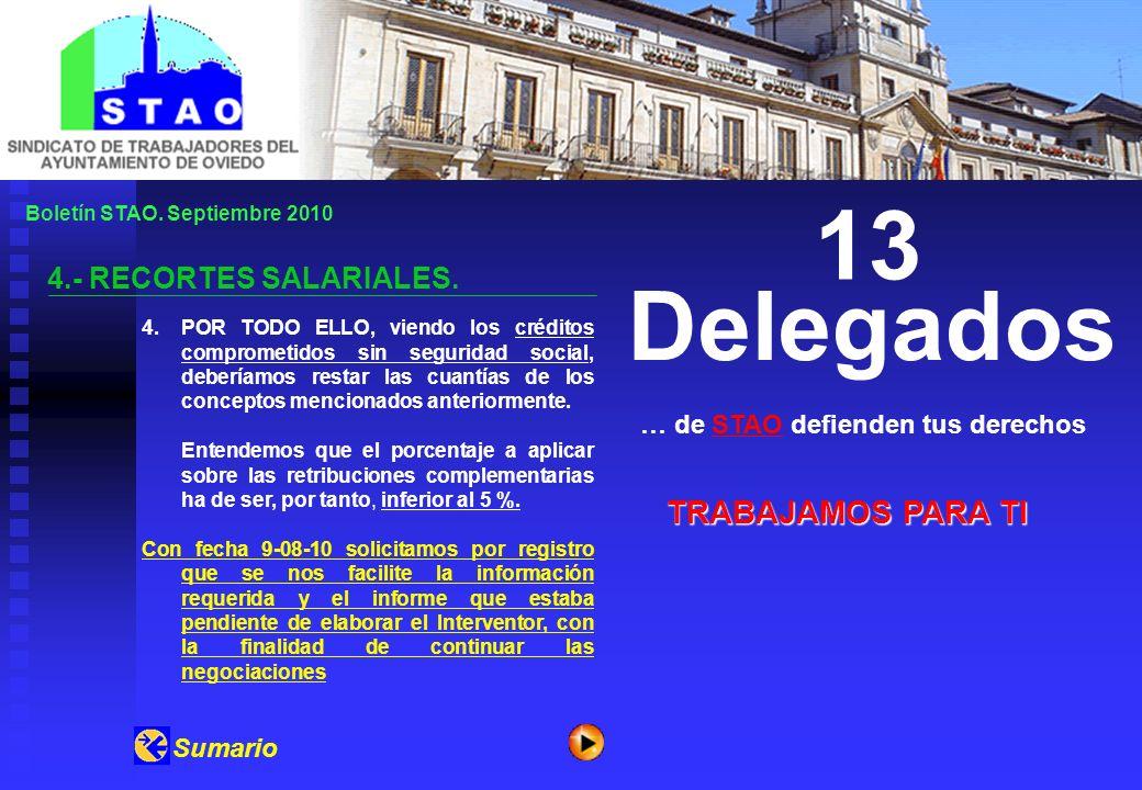 Boletín STAO. Septiembre 2010 4.- RECORTES SALARIALES.