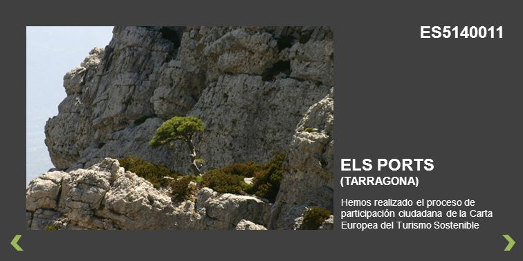 Hemos realizado el proceso de participación ciudadana de la Carta Europea del Turismo Sostenible ELS PORTS (TARRAGONA) ES5140011