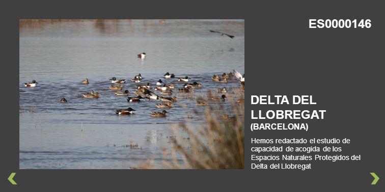 Hemos redactado el estudio de capacidad de acogida de los Espacios Naturales Protegidos del Delta del Llobregat DELTA DEL LLOBREGAT (BARCELONA) ES0000146