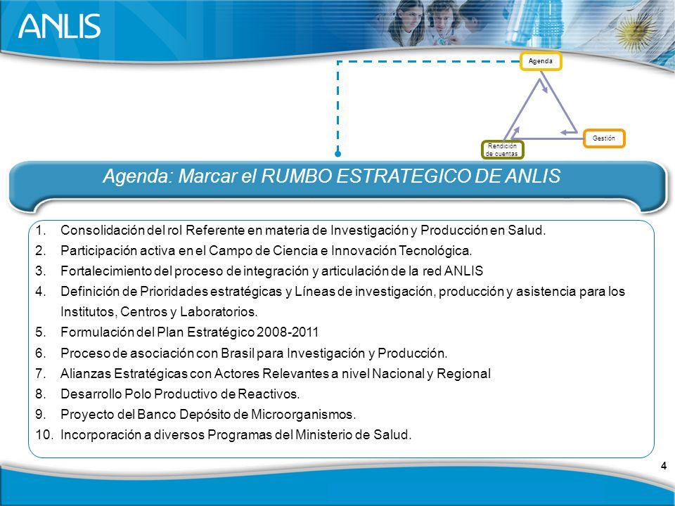 4 1.Consolidación del rol Referente en materia de Investigación y Producción en Salud.