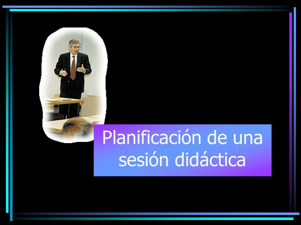 Planificación de una sesión didáctica