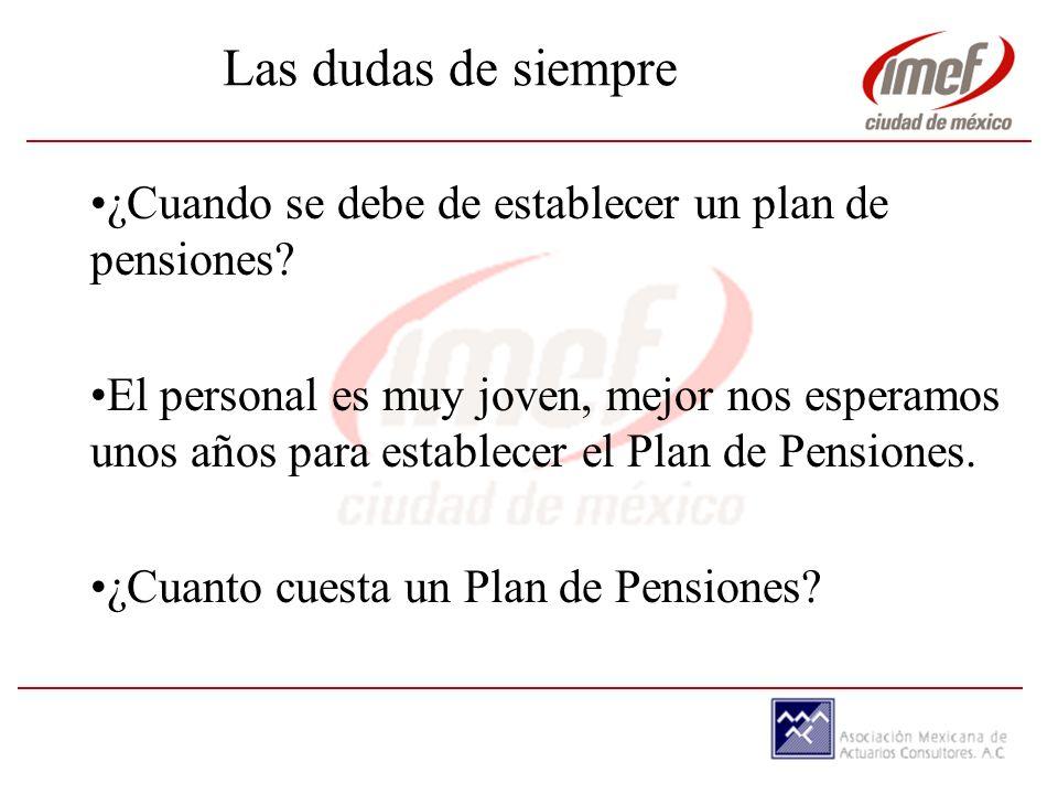 ¿Cuando se debe de establecer un plan de pensiones.