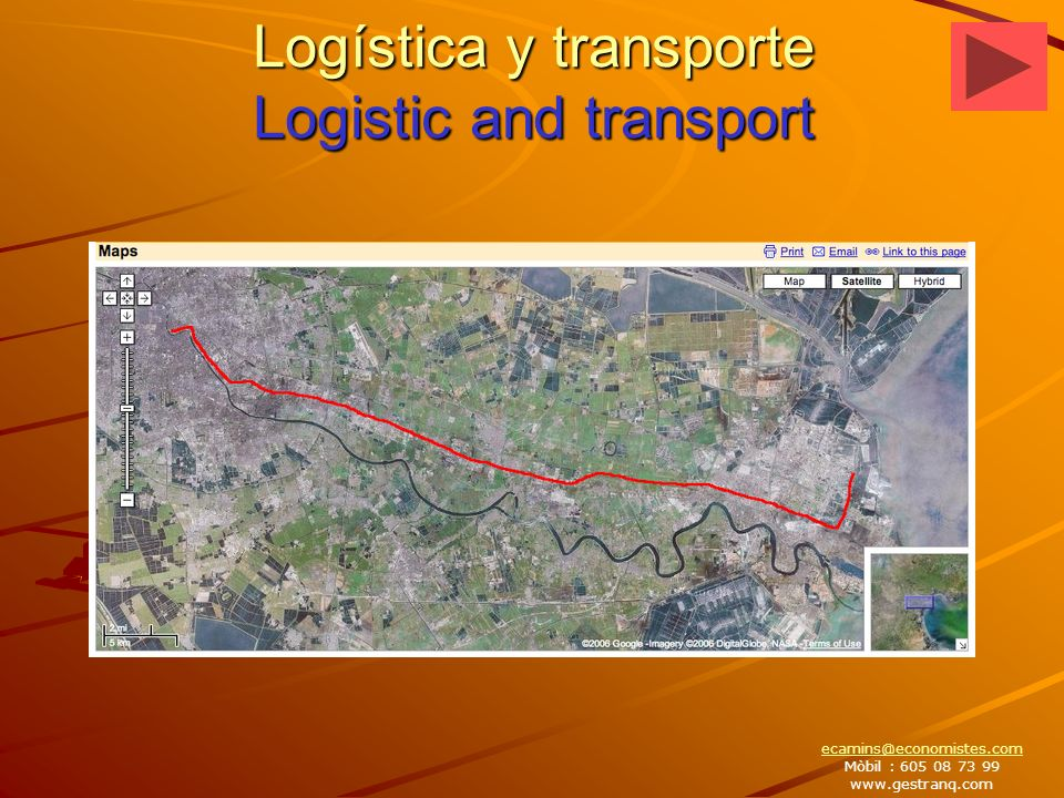 Logística y transporte Logistic and transport ecamins@economistes.com Mòbil : 605 08 73 99 www.gestranq.com