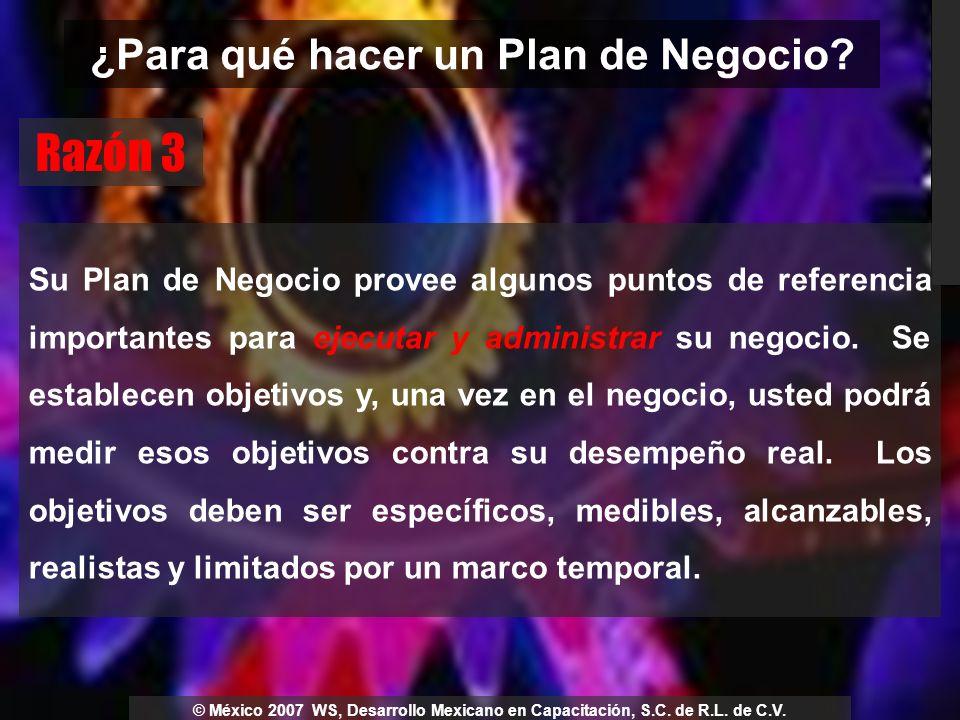 Su Plan de Negocio provee algunos puntos de referencia importantes para ejecutar y administrar su negocio.