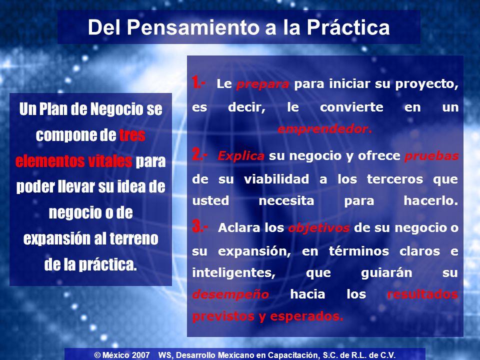 Una idea en sí misma no tiene un valor económico intrínseco; adquiere valor económico sólo después de que haya sido estructurada exitosamente en un concepto de negocio con un plan viable y una implementación que ofrezca resultados.